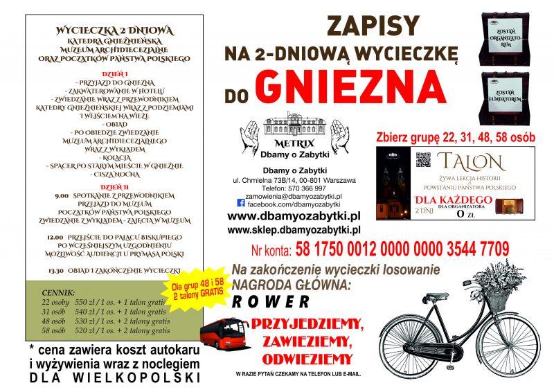 Wycieczka 2 dniowa do Gniezna – dla Wielkopolski
