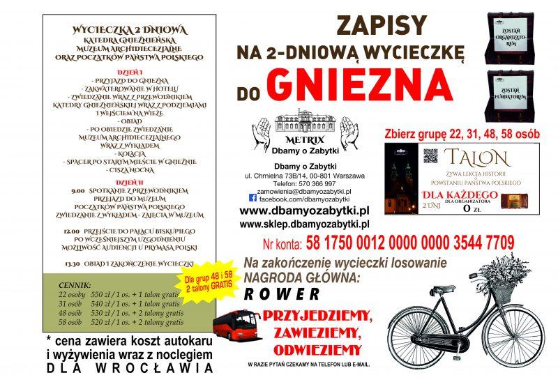 Wycieczka 2 dniowa do Gniezna – dla Wrocławia